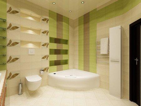 Как оформить просторную ванную