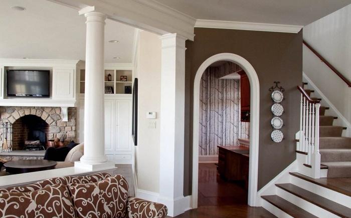 Округление интерьера арками