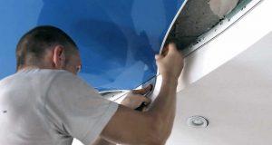 Как устанавливаются натяжные потолки